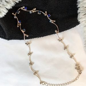 Jewelry - 4/$25!🌟 Silver choker with sapphire blue stones